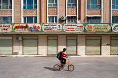 The ancient city of Kashgar, China on the silk trading route in Xinjiang province Royalty Free Stock Photo