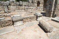 Ancient city of Kaunos, Dalyan valley, Turkey Stock Photography
