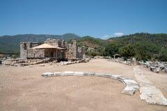 Ancient city of Kaunos, Dalyan valley, Turkey Royalty Free Stock Photo
