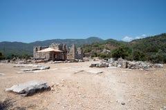 Ancient city of Kaunos, Dalyan valley, Turkey Royalty Free Stock Images