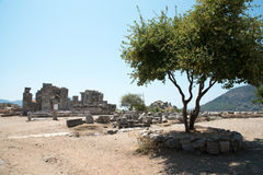 Ancient city of Kaunos, Dalyan valley, Turkey Stock Image