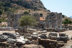 Ancient city of Kaunos, Dalyan valley, Turkey Stock Photos