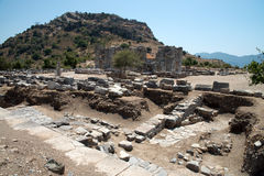 Ancient city of Kaunos, Dalyan valley, Turkey Stock Images