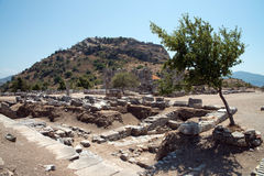 Ancient city of Kaunos, Dalyan valley, Turkey Royalty Free Stock Photo