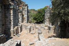 Ancient city of Kaunos, Dalyan valley, Turkey Stock Photography