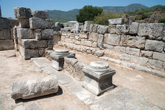 Ancient city of Kaunos, Dalyan valley, Turkey Stock Photo