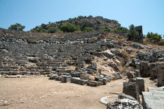 Ancient city of Kaunos, Dalyan valley, Turkey Royalty Free Stock Photos