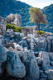 Ancient city in Kekova Stock Photography
