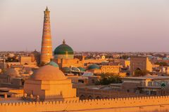 Khiva. Ancient city of Khiva, Uzbekistan. UNESCO World Heritage stock photography