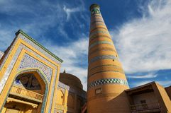 Khiva. Ancient city of Khiva, Uzbekistan. UNESCO World Heritage stock images
