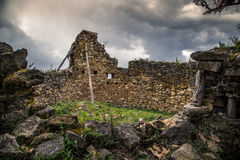 Ancient city of Kuelep. Ruins at the ancient city of Kuelep outside Chachapoyas, Peru Stock Image