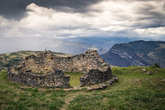 Ancient city of Kuelep. A view from of ancient ruins in Peru Stock Image