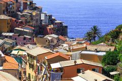 Ancient city MANAROLA, National Park Cinque Terre ,  Italy Royalty Free Stock Images