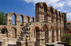 In Ancient city of Nessebar Bulgaria Stock Image