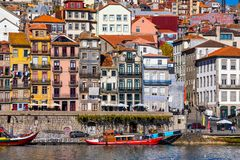 Free Ancient City Of Porto With Old Multi-colored Houses With Red Roof Tiles. Portugal, Porto Stock Image - 146597621