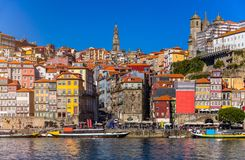 Free Ancient City Of Porto With Old Multi-colored Houses With Red Roof Tiles. Portugal, Porto Royalty Free Stock Photos - 148166618