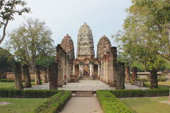Ancient City Of Sukothai In Thailand Stock Images