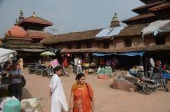 Ancient city of Patan - Nepal. Patan square in Morning,Ancient city of Nepal,Kathmandu Royalty Free Stock Image