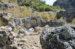 The ancient city of Pergamon connected Silyon Stock Image