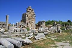 Ancient City of Perge. Near Antalya Turkey stock photo