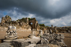 Ancient city of Perge Royalty Free Stock Image