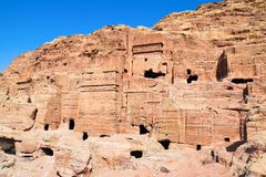 The ancient city of Petra in Jordan. Royalty Free Stock Image