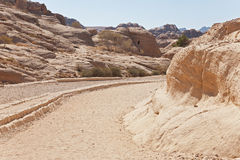 The ancient city of Petra, Jordan. View of the ancient city of Petra, Jordan Stock Image
