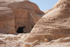 The ancient city of Petra, Jordan. View of the ancient city of Petra, Jordan Royalty Free Stock Photo
