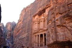 the ancient city of Petra, Jordan stock photos