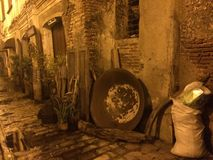 Ancient city in the Philippines. Vigan heritage city at dusk. Remained the same for many years Stock Images