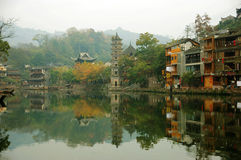 The ancient city of phoenix hunan province Stock Image