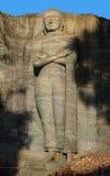 Ancient City of Polonnaruwa, Buddha standing on lotus plinth at Gal Vihara Rock Temple Gal Viharaya, UNESCO World Heritage Site,. Sri Lanka, Asia. This is a Royalty Free Stock Photos