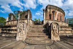 Ancient City of Polonnaruwa. Photo of the Vatadage (Circular Relic House) in Polonnaruwa Quadrangle, UNESCO World Heritage Site, Sri Lanka, Asia Stock Photography