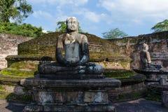 Ancient City of Polonnaruwa. Photo of the Vatadage (Circular Relic House) in Polonnaruwa Quadrangle, UNESCO World Heritage Site, Sri Lanka, Asia Stock Photo
