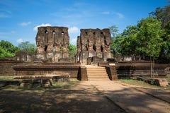 Ancient City of Polonnaruwa, Royal Palace (Parakramabahu's Royal Palace), UNESCO World Heritage Site,. Ancient City of Polonnaruwa, tourist Royalty Free Stock Photo