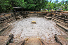 Ancient City of Polonnaruwa`s Kumara Pokuna Royal Bath - Sri Lanka UNESCO World Heritage Stock Photography