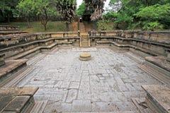 Ancient City of Polonnaruwa`s Kumara Pokuna Royal Bath - Sri Lanka UNESCO World Heritage Stock Images