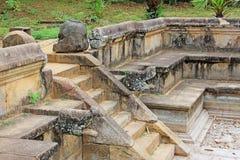 Ancient City of Polonnaruwa`s Kumara Pokuna Royal Bath - Sri Lanka UNESCO World Heritage Royalty Free Stock Photo