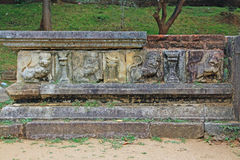 Ancient City of Polonnaruwa`s Kumara Pokuna Royal Bath - Sri Lanka UNESCO World Heritage Stock Image