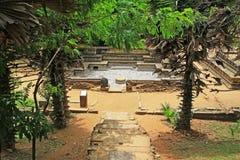 Ancient City of Polonnaruwa`s Kumara Pokuna Royal Bath - Sri Lanka UNESCO World Heritage Stock Photo