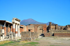 Ancient city of Pompeii, Italy. Royalty Free Stock Photography