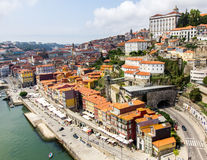 Ancient city Porto. A view of Ancient city Porto, red roofs Royalty Free Stock Image