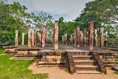 Ancient City religion ruins in Polonnaruwa city temple Sri Lanka Stock Photography