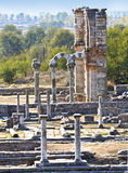 Ancient city remains in Greece. Ancient city remains of Filippous in Greece Royalty Free Stock Photography