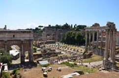 Ancient city Rome,Italy. Fori Imperiali, Forum Romanum, Italy, Rome Stock Image