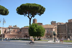 Ancient city Rome in Italy. Modern life in Ancient  Rome city in Italy Stock Photo