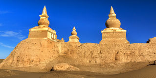 Ancient City Ruins. This is China`s Inner Mongolia famous tourist attractions black city ruins Stock Images