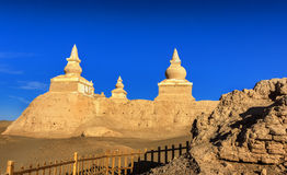 Ancient City Ruins. This is China`s Inner Mongolia famous tourist attractions black city ruins Royalty Free Stock Photo