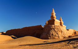 Ancient City Ruins. This is China`s Inner Mongolia famous tourist attractions black city ruins Royalty Free Stock Photography