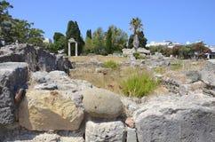 Ancient city ruins Kos, Greece. Ancient city ruins in the islend of Kos, Greece Royalty Free Stock Photos